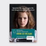 Plakat der Unabhängige Beauftragte für Fragen des sexuellen Kindesmissbrauchs (UBSKM)
