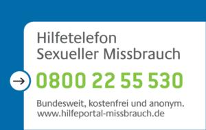 Hilfetelefon Sexueller Missbrauch - 080022 55 530